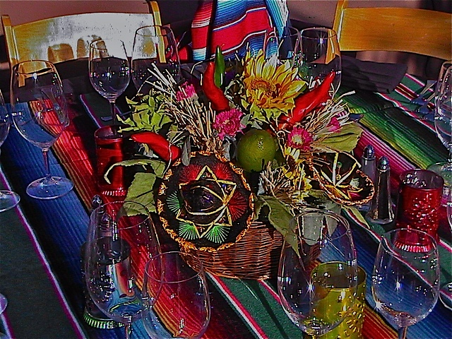 Mexican Fiesta Theme, Rental Centerpiece, Enchantment Resort, Sedona AZ.